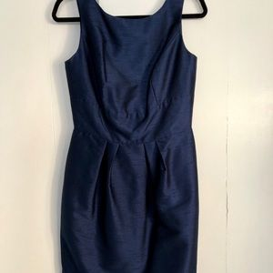 Alfred Sung navy bridesmaid dress